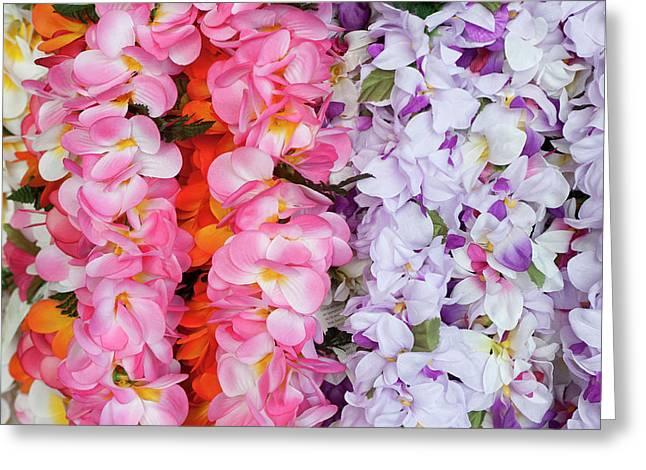 Hawaiian Flower Garlands Display Greeting Card
