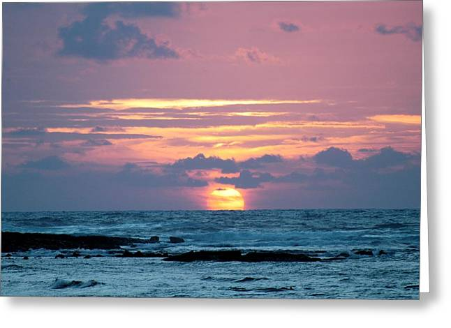 Hawaiian Ocean Sunrise Greeting Card by Lehua Pekelo-Stearns