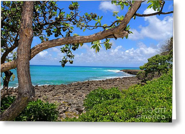Greeting Card featuring the photograph Hawaiian Paradise by Kristine Merc