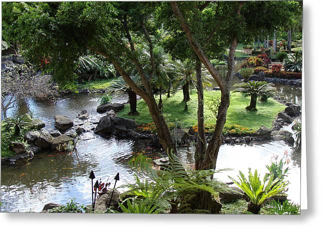 Hawaiian Pond  Greeting Card by Dee  Savage