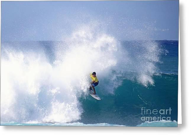 Hawaiian Pro Surfer Kekoa Bacalso Greeting Card