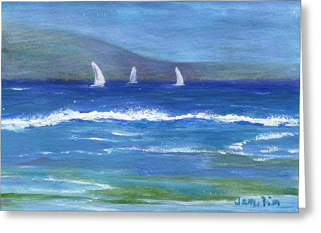 Greeting Card featuring the painting Hawaiian Sail by Jamie Frier