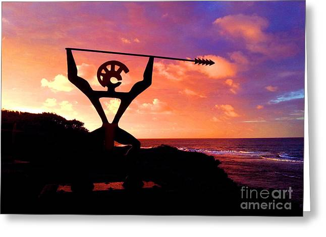 Hawaiian Silhouette Greeting Card