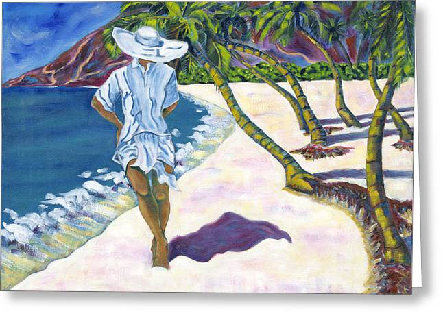 Hawaiian Stroll Greeting Card