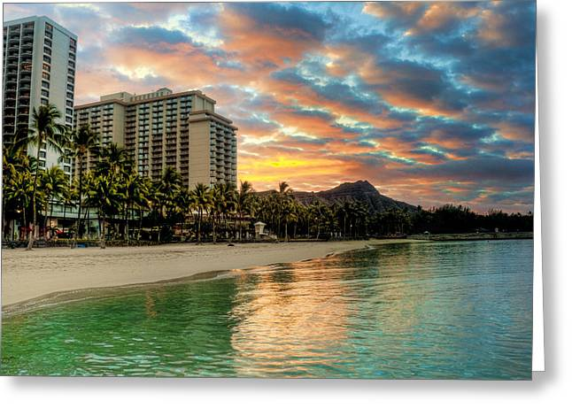 Hawaiian Sunrise Greeting Card by Brent Durken