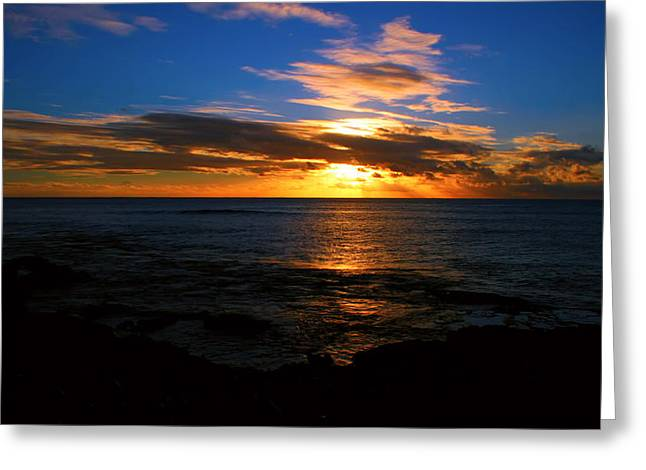 Hawaiian Sunset Greeting Card