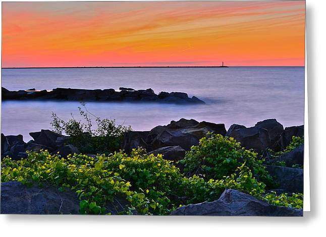 Hawaiian Sunset Greeting Card by Frozen in Time Fine Art Photography