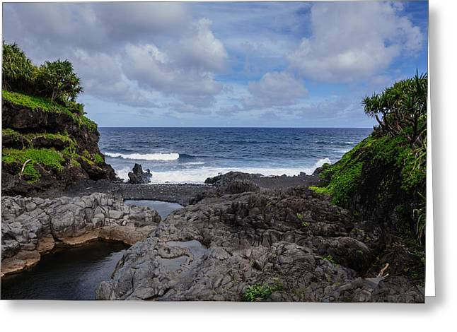 Hawaiian Surf Greeting Card