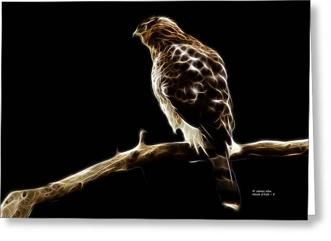 Hawk -  2950 - F Greeting Card by James Ahn