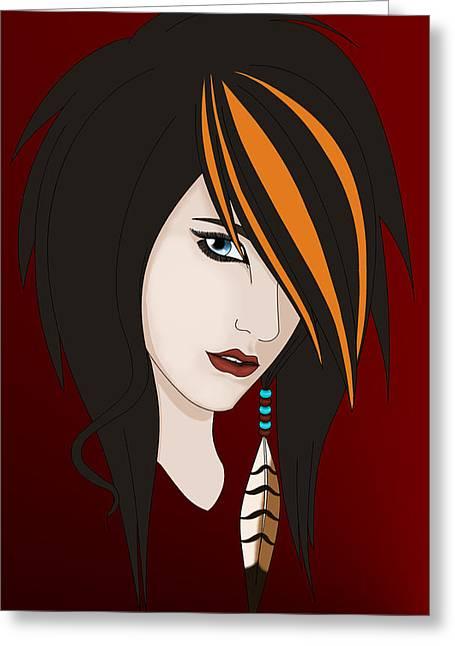 Hawk Eye Greeting Card by Jessica-Faye Watters
