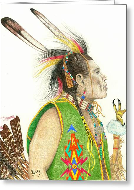 Hawk Foot Greeting Card by Lew Davis