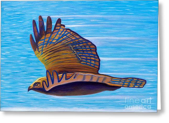 Hawk Speed Greeting Card by Brian  Commerford