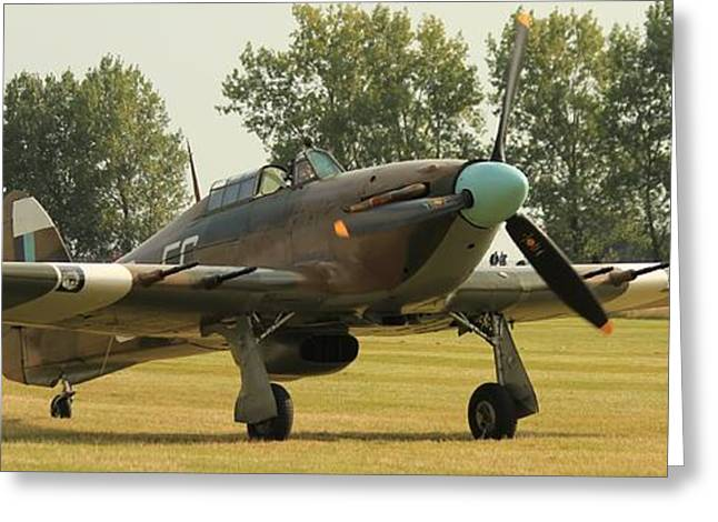 Hawker Hurricane Taxing Greeting Card