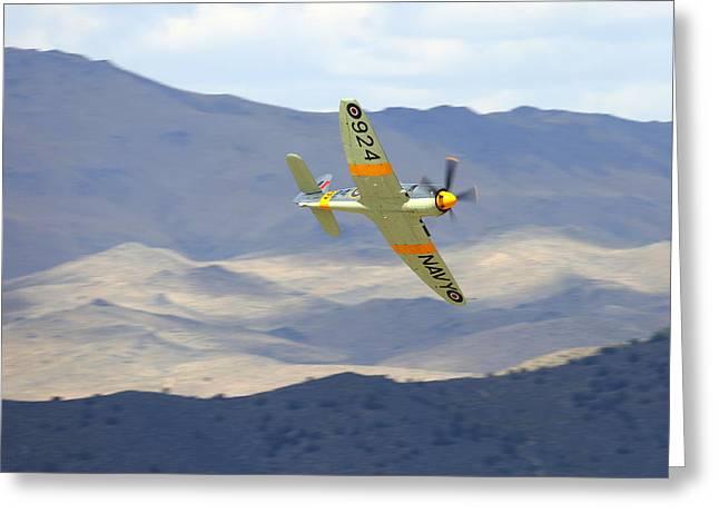 Hawker Sea Fury T Mk.20 At Reno Air Races Greeting Card by John King