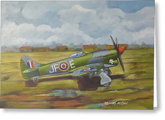 Hawker Tempest Greeting Card by Murray McLeod