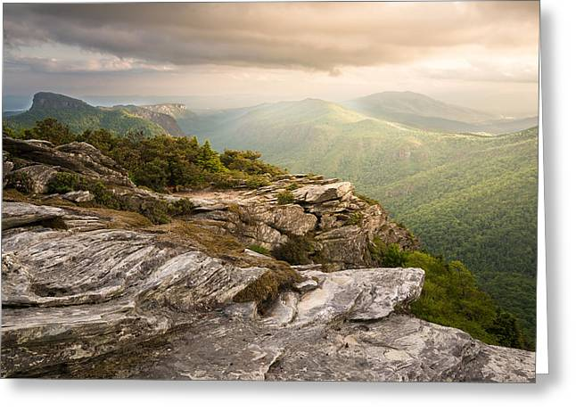 Hawksbill Mountain Sunset Greeting Card