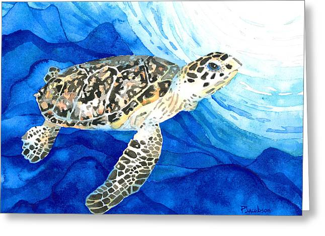 Hawksbill Sea Turtle 2 Greeting Card