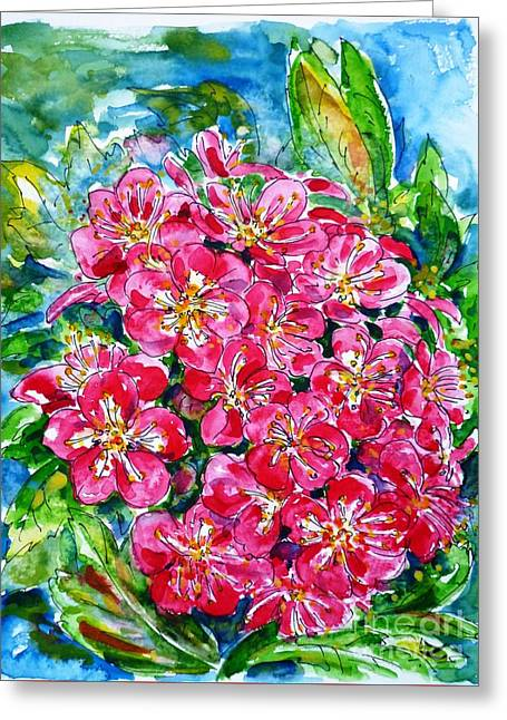 Hawthorn Blossom Greeting Card by Zaira Dzhaubaeva
