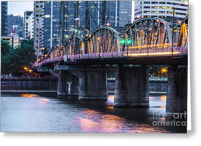 Hawthorne Bridge Portland Oregon Greeting Card by Patricia Babbitt