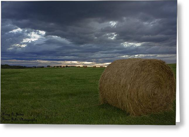 Hay Bail Greeting Card