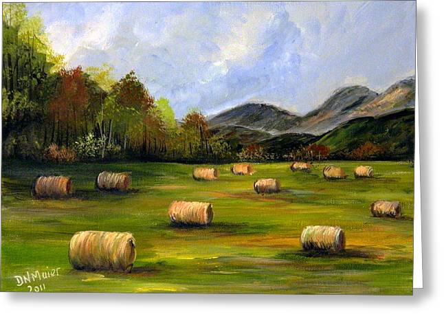 Hay Bales In Wv Greeting Card by Dorothy Maier