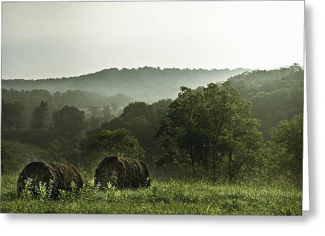 Hay Bales Greeting Card by Shane Holsclaw