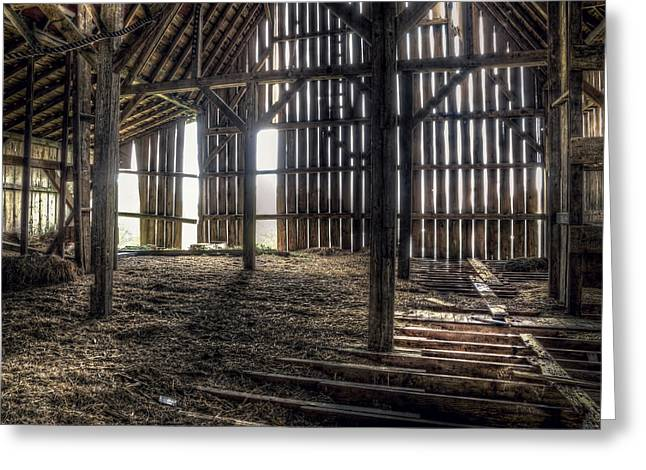 Hay Loft 2 Greeting Card by Scott Norris