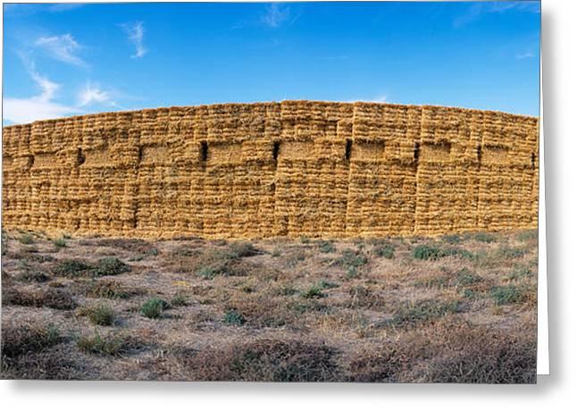 Hay Stacks, Eastern Washington Greeting Card by Panoramic Images