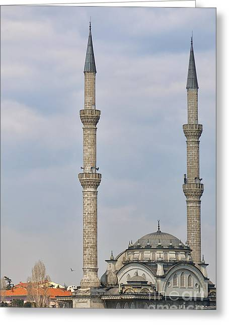Haydarpasa Protokol Cami Mosque 02 Greeting Card by Antony McAulay