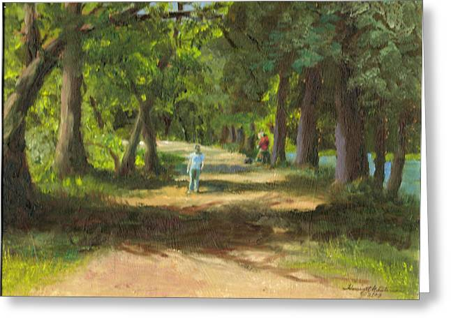 Hayden Shaded Path Greeting Card by Harriett Masterson