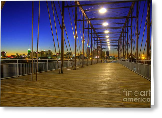 Hays Street Bridge Greeting Card