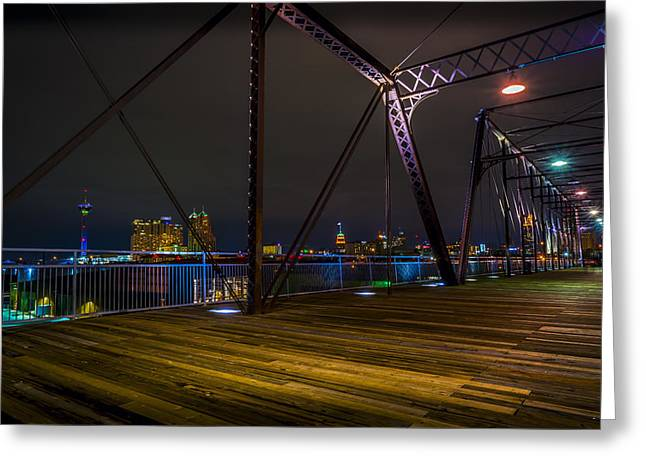 Hays Street Bridge Greeting Card by David Morefield