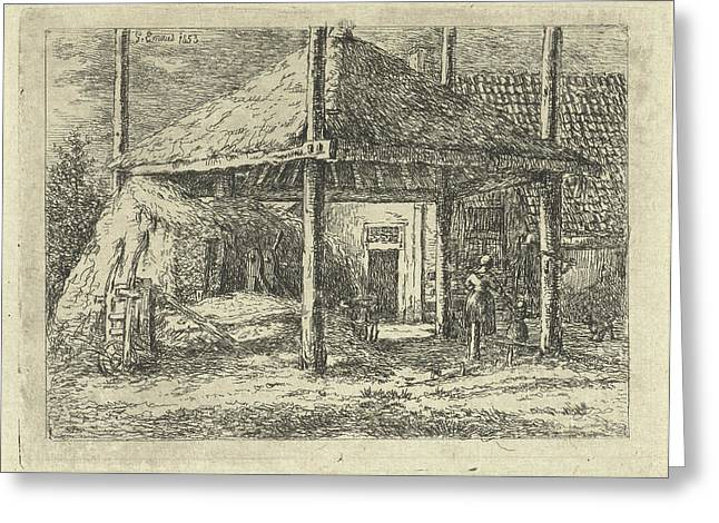 Haystack, Gerardus Emaus De Micault Greeting Card by Gerardus Emaus De Micault