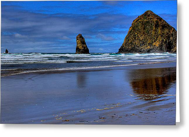 Haystack Rock And The Needles II Greeting Card by David Patterson
