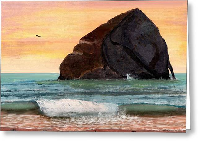 Haystack Rock At Kiwanda Greeting Card