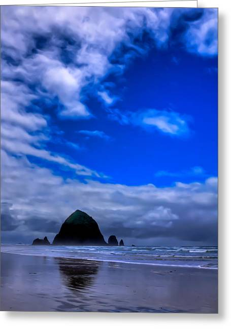Haystack Rock In Cannon Beach Oregon Greeting Card