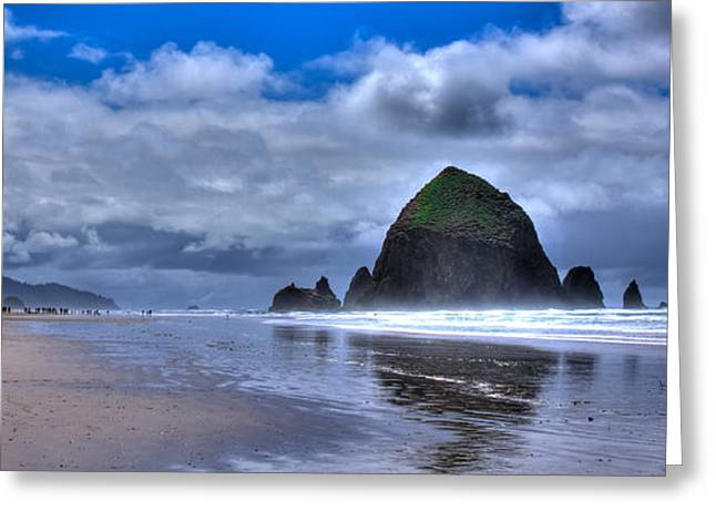 Haystack Rock Iva Greeting Card by David Patterson