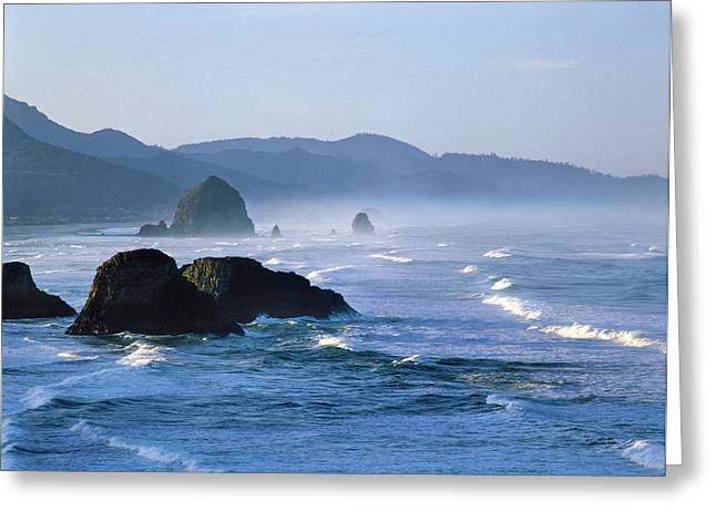Haystack Rocks In Cannon Beach Greeting Card