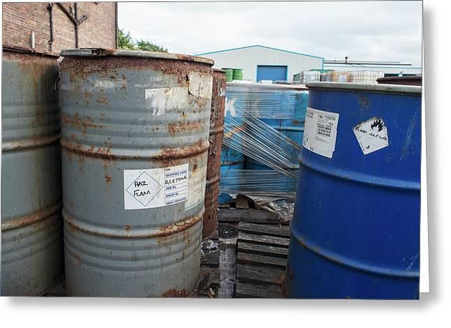 Hazardous Industrial Waste Greeting Card by Robert Brook