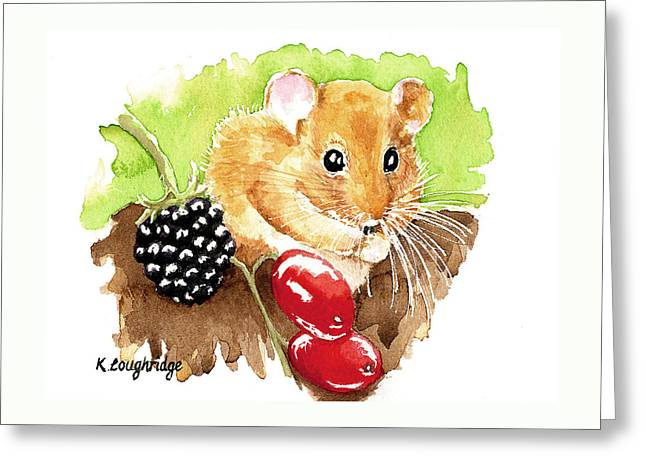 Hazel Dormouse Greeting Card