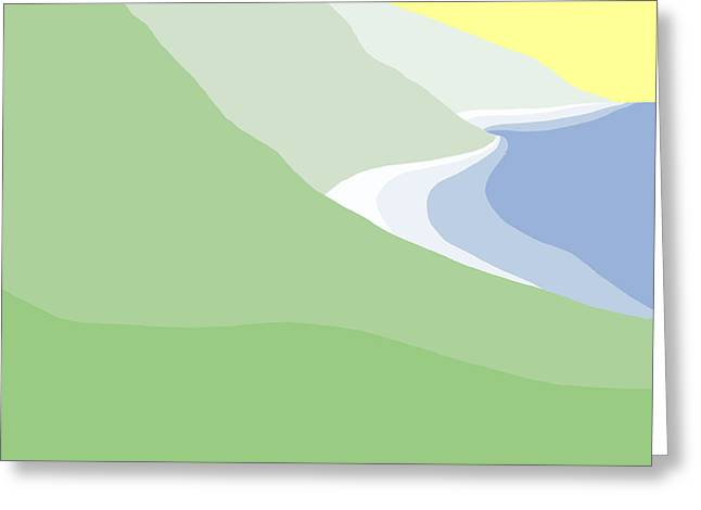 Hazy Coastline Greeting Card