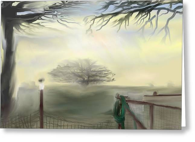 Hazy Day In Texas Greeting Card by Jessica Wright