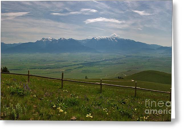 Hazy Day Over The Flathead Valley Greeting Card by Charles Kozierok