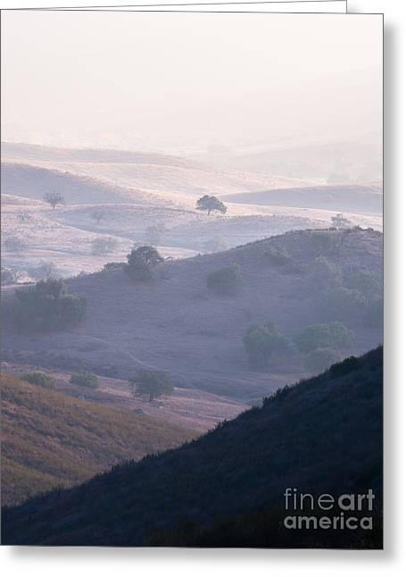 Hazy Pamo Valley Greeting Card