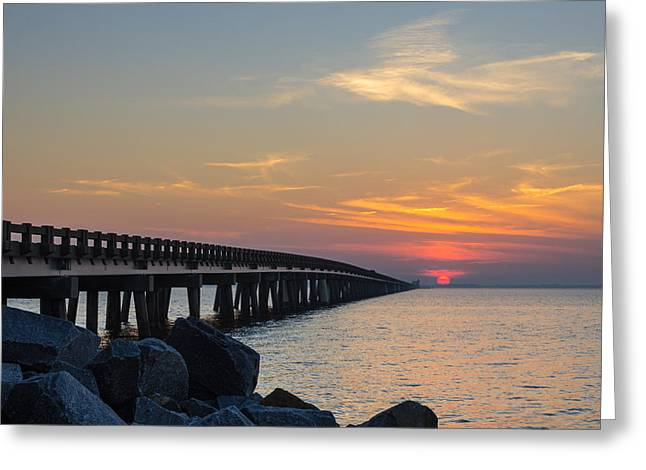 Hazy Sunset Greeting Card