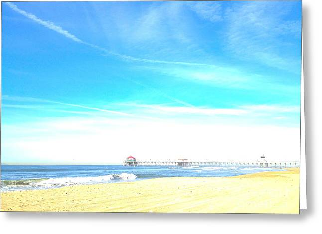 Greeting Card featuring the photograph Hb Pier 7 by Margie Amberge