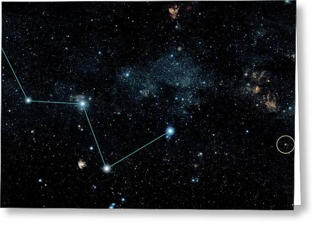 Hd 219134 And Cassiopeia Greeting Card