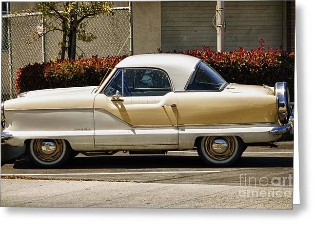 hd 434 A Nash Metropoliton  Runabout Greeting Card by Chris Berry