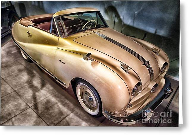 Greeting Card featuring the photograph Hdr Classic Car by Paul Fearn