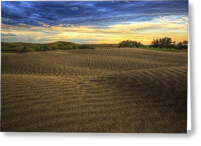 Hdr Image Of The Great Sandhills Greeting Card by Robert Postma